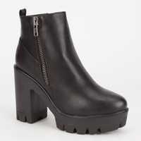 Bamboo Jonas Womens Boots Black  In Sizes