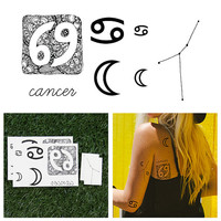 Cancer - Temporary Tattoo (Set of 14)