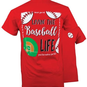 Southern Couture Preppy Baseball Life T-Shirt