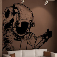 Vinyl Wall Decal Sticker Corner Astronaut #5485