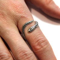 My Pet Garden Snake Ring in Sterling Silver