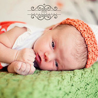 Baby Girl Hat  - Crochet Baby Bell Hat - Crochet sack hat - Newborn, 0-3 months and 3-6 months -