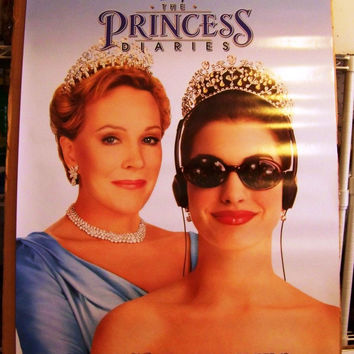 The Princess Diaries Movie Poster 2x40 MCP0006 Used Walt Disney, Terry Brown, Gwenda Perez, Nicholle Tom, Bonnie Aarons, Todd Lowe, Caroline Goodall, Cassie Rowell, Joe Ross, Greg Lewis, Barry J Ratcliffe, Mandy Moore, Erik von Detten