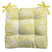 Lisa Argyropoulos Daisy Daisy In Golden Sunshine Outdoor Seat Cushion