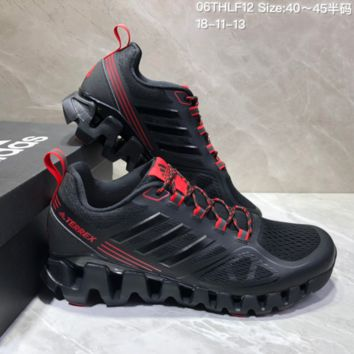 AUGUAU A475 Adidas Terrex High Frequency Breathable TPU Vamp Running Shoes Black Red