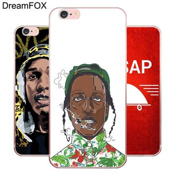 DREAMFOX L380 A Ap Asap Rocky Soft TPU Silicone  Case Cover For Apple iPhone 8 X 7 6 6S Plus 5 5S SE 5C 4 4S
