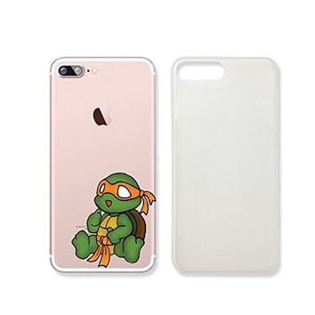 Ninja Turtle Slim Transparent Iphone 7 Case, Clear Iphone Hard Cover Case For Apple Iphone 7 Emerishop (VAE301.7sl)