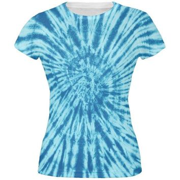 DCCKU3R Blue Tie Dye All Over Juniors T-Shirt