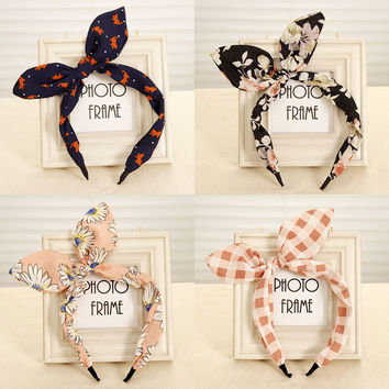 Butterfly Bow Flower Hairband Garland Lovely Head Band Rabbit Ear Headband for Headwear Hair Accessories for Women