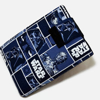 Tablet Case, iPad Cover, Star Wars, Character in Blocks, Kindle Fire Cover,  7, 8, 9, 10 inch Tablet Sleeve, Cozy, Handmade, FOAM Padding