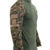 Rothco Tactical Airsoft Digital Woodland Camo Combat Shirt