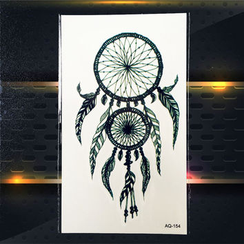 Hot Removeable Temporary Tattoo Stickers Dreamcatcher Design PAQ-154 Sexy Women Pattern Dream Catcher Flash Tattoo Paste Lady