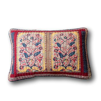 Tache Vineyard Cottage Floral Quilted Pillow Cover Patchwork 1 Piece Sham (JHW-827-SHAM)