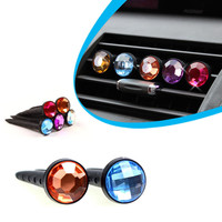 Auto Car Air Vent Outlet Stent Diamond AirFreshener Aroma Diffuser For Car Fragrance Dec30