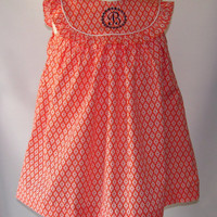 Girls clothing Fall Dress, Monogrammed dresses for Toddlers, girls from sz 12m,3T, FREE Personalization