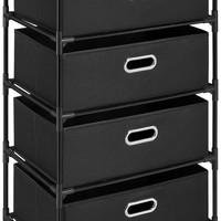 Altra Furniture 4-Bin Storage End Table, Black
