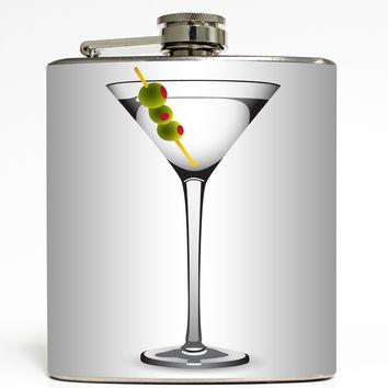 Dirty Martini - Cocktail Glass Flask
