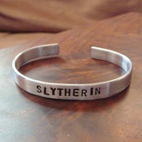 Slytherin An Aluminum Cuff Bracelet by bohemianstorm on Etsy