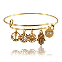 All You Need is Love Charm Bracelet