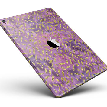 "Daisy Pedals Over Purple Cloud Mix Full Body Skin for the iPad Pro (12.9"" or 9.7"" available)"