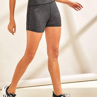 Wide Waistband Contrast Stitch Cycling Shorts