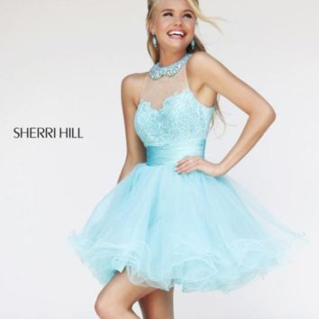 Sherri Hill 21227 Blue Cocktail Dress