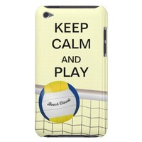 Keep Calm and Play Beach Volleyball iPod Case iPod Touch Covers