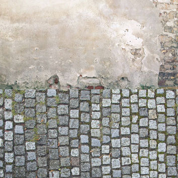 Distressed wall brick road from dropsprops on etsy for Distressed brick wall mural