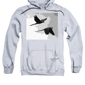 Parrots Drawing - Sweatshirt