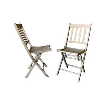 "Pre-owned Vintage Wood Folding ""Jack"" Chairs - A Pair"