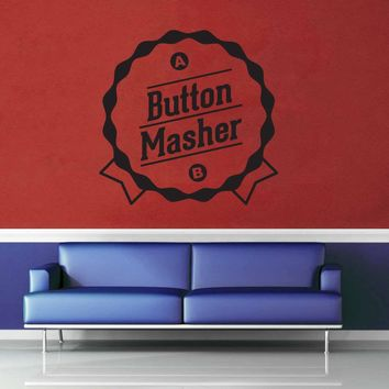 Button Masher - Gamer Décor - Wall Decal$8.95