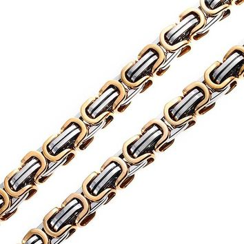 Mechanic Byzantine Chain Necklace Stainless Steel