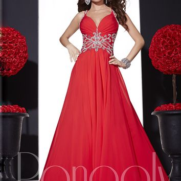 Panoply 14668 Sparkly Chiffon Gown