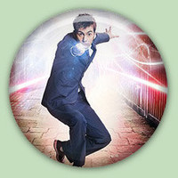 Doctor Who 10th Doctor 1 inch pinback button.
