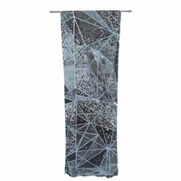 "Marianna Tankelevich ""Ice Space Geometry"" Blue Gray Digital Decorative Sheer Curtain"