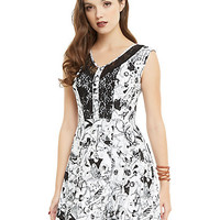 The Nightmare Before Christmas Character Toss Lace Accent Dress