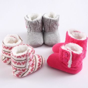 Super Warm Newborn Girl Prewalker Boots