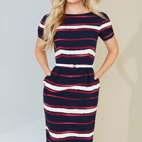 **Paper dolls stripe bodycon dress - Workwear - Clothing