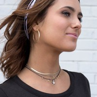Triple Layer Star Choker Necklace