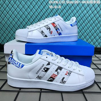 HCXX A122 Adidas Superstar Fashion Casual Campus Shoes White
