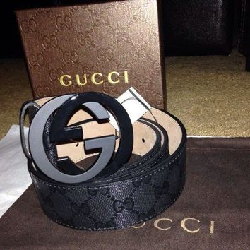 One-nice™ NWT Authentic Gucci Black Sparkling Belt Size-115om