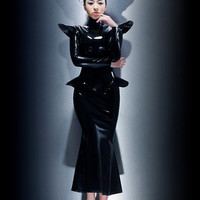 Fashion Queen dominant latex dress