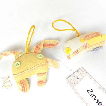 Matching Gift Set Keychain Dolls | Zinsect & Zeppelin charms | keychain accessory | Yellow stuffed bug dolls | Couple keychain | door hanger