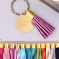 Alpha Delta Pi Sorority Tassel Keychain | A-List Greek Designs