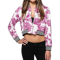 Married To The Mob Floral Crop Jacket