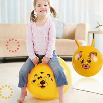 1pcs new 10 thickened size inflatable massage jumping ball pvc material bouncing balance ball for children health care