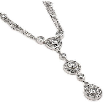 Nicola's Triple Round Drop CZ Layered Necklace