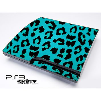 Neon Green Cheetah Skin for the Playstation 3