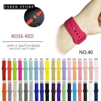 Colorful Soft Silicone For iWatch Sport Band for Apple Watch Series Replacement Watch Strap for Apple Watch Bands 42mm