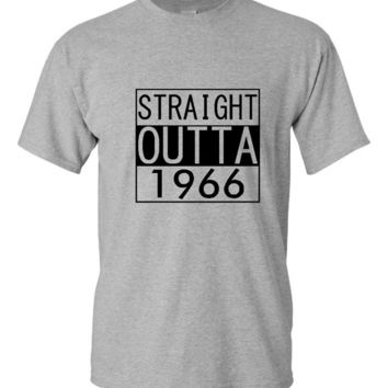 Straight Outta 1956 60th Birthday T Shirt Fun Birthday Shirt Unisex Ladies Fit Straight Outta 1956